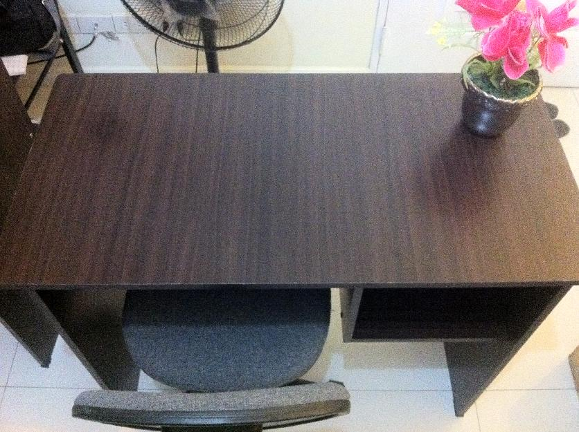 Wooden study table with chair photo