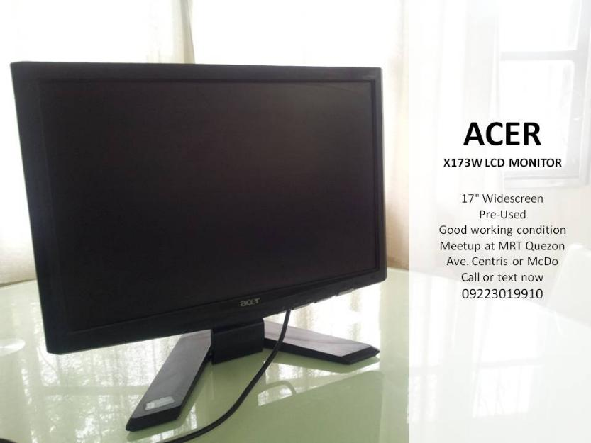 17 inch Acer LCD Monitor photo