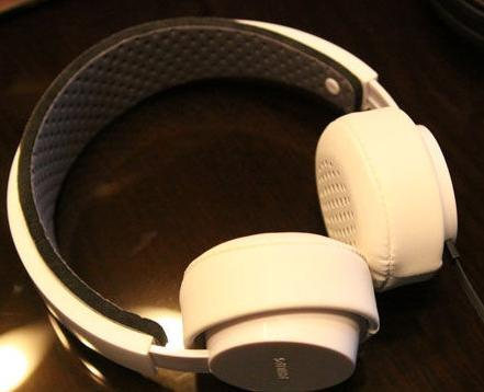 White Philips headphones photo
