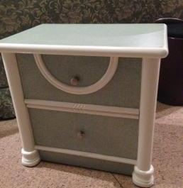 Bedside table with two drawers photo