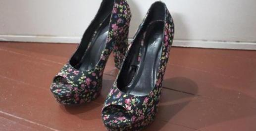Forever 21 Floral Dressy Pumps photo