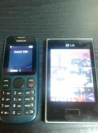 LG Optimus L3 E400 with Nokia N100 photo