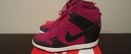 Nike Womens Dunk Sky Hi Wedge Purple Dynasty photo
