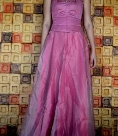 Fuschia Pink gown photo