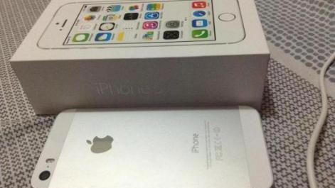 iPhone 5S Silver 16gb Globelocked White photo