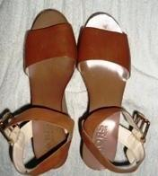 Michael Kors Brown Wedge Sandals Shoes photo