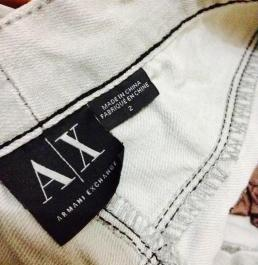 Armani Exchange Fire grey design jeans photo