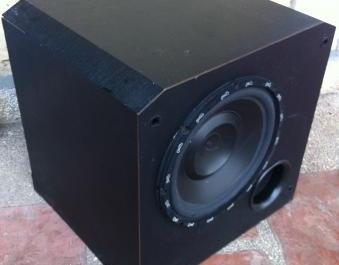 Kenwood Subwoofer Box With Polk Audio Speaker photo