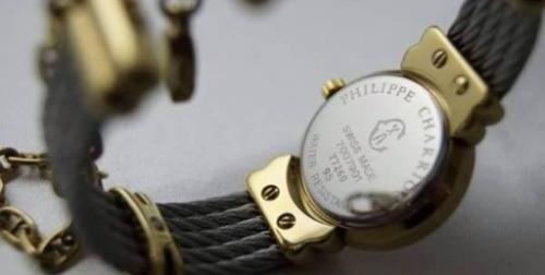 authentic philippe charriol st. tropez watch in blue face image 3