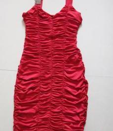 Ruche red dress photo