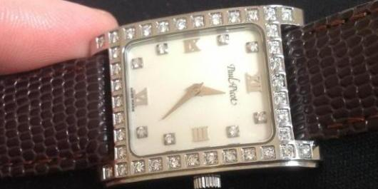 Paul Picot Diamond Watch, Mother of Pearl Dial, Authentic image 4