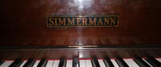 Simmermann Piano - vintage antique photo