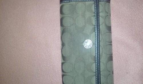 Coach Checkbook Wallet photo