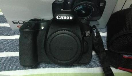 Canon EOS 60d with two lenses and lowepro bag photo