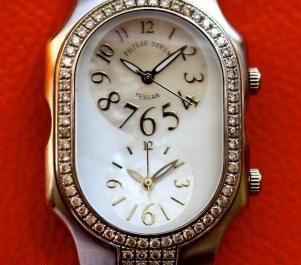 Authentic Philip Stein Double Diamond Watch 2dd.f.fsmop Large photo