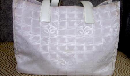 Chanel Beige Canvas Tote Bag photo