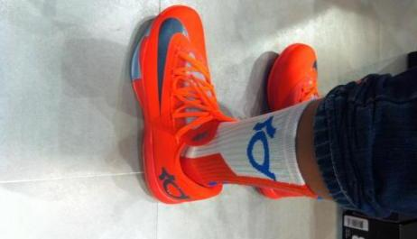 nike kd6 shoe orange photo