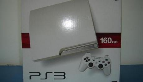 PS3 SLIM WHITE 160GB Jailbroken Rush photo