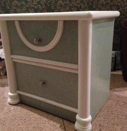 bedside table with laminated top photo
