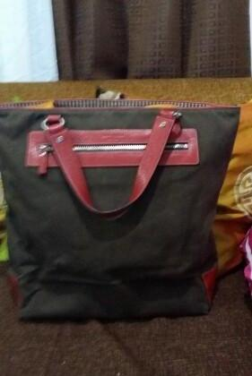 Kate Spade Brown Denim Tote bag photo