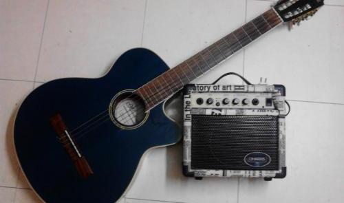 Guitar and Guitar Amplifier bundle photo