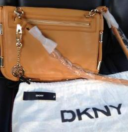 DKNY brown leather bag photo