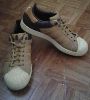 Brown Suede Adidas Superstar photo