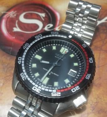 Wow Seiko 7002 Rally Mod 6105 Custom Bezel Mems Auto Diver photo