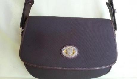 Burberry rubberized cross bag photo