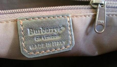 Burberry rubberized cross bag image 5