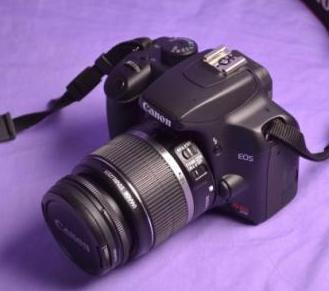 Canon kiss XS with 18-55mm IS dslr camera photo