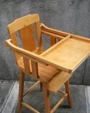 Wooden Baby High Chair photo