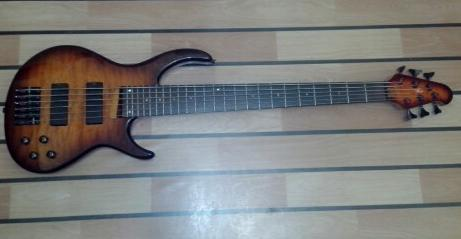 RJ 6 string bass guitar photo
