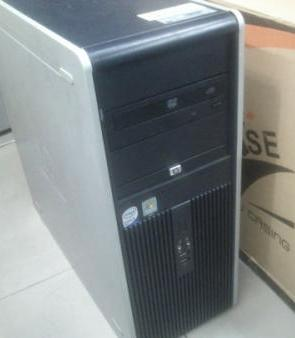HP CompaQ Intel Core 2 Duo Gaming Computer Desktop photo