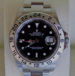 Rolex explorer 2 black face complete box photo