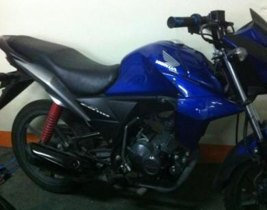 honda cb 110 2011 blue photo
