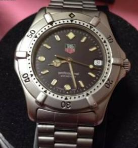 authentic tag heuer professional watch photo