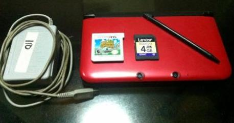 Nintendo 3DS XL (RED) US ver with 2 games photo