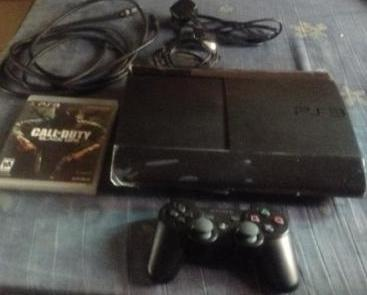 sony ps3 superslim 500gb with call of duty no box photo