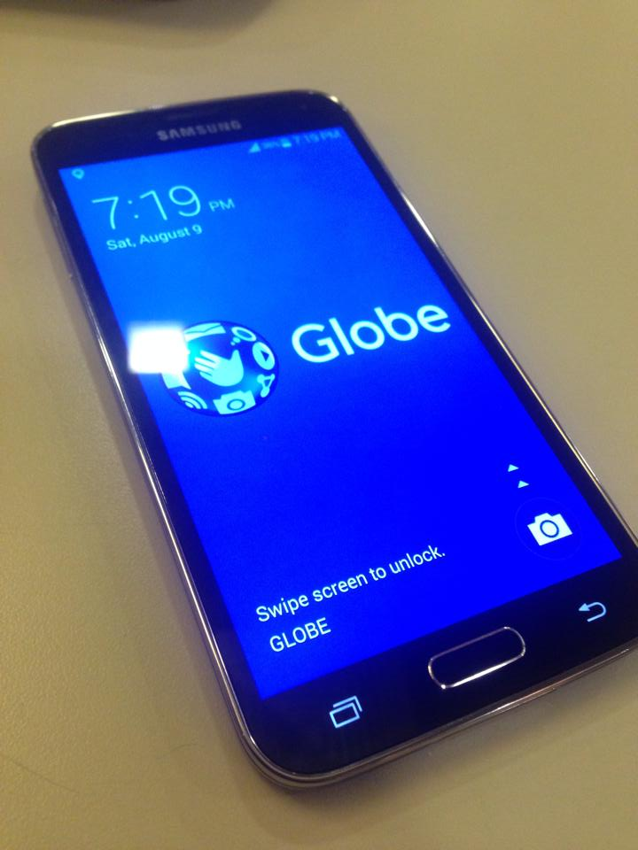 Samsung galaxy s5 g900f LTE from globe COMPLETE GLOBE LOCK photo