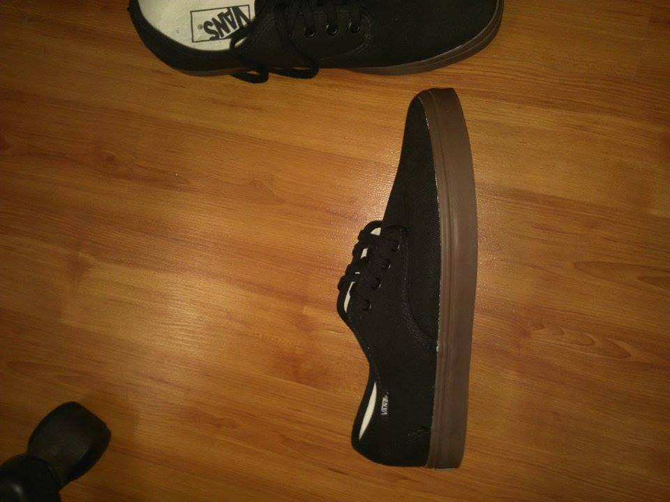 ORIGINAL VANS BLACK SIZE 8 photo