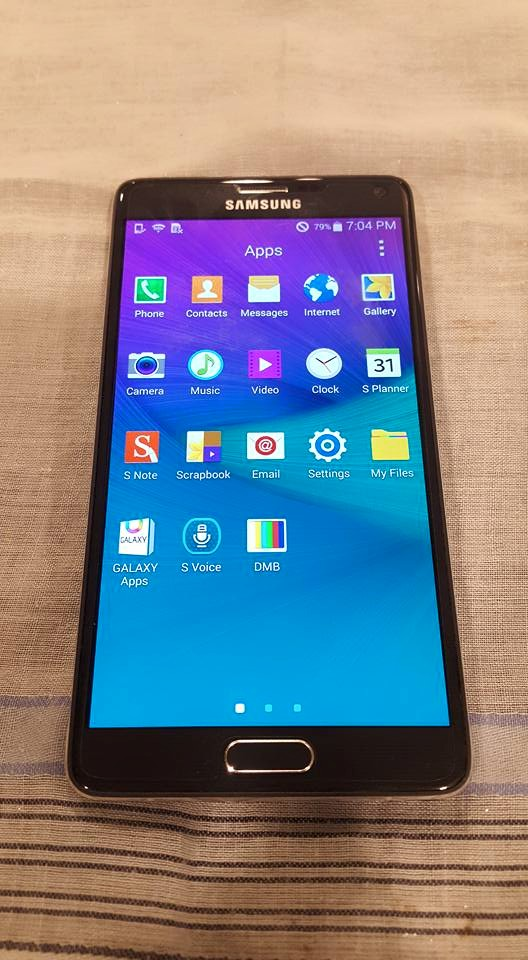 Samsung Galaxy Note 4 Black LTE Semi complete Package photo