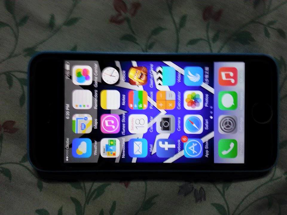 Iphone 5c 16gb blue globelock photo