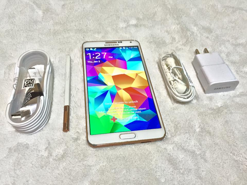 Samsung galaxy note 3 white gold with free powerbank photo