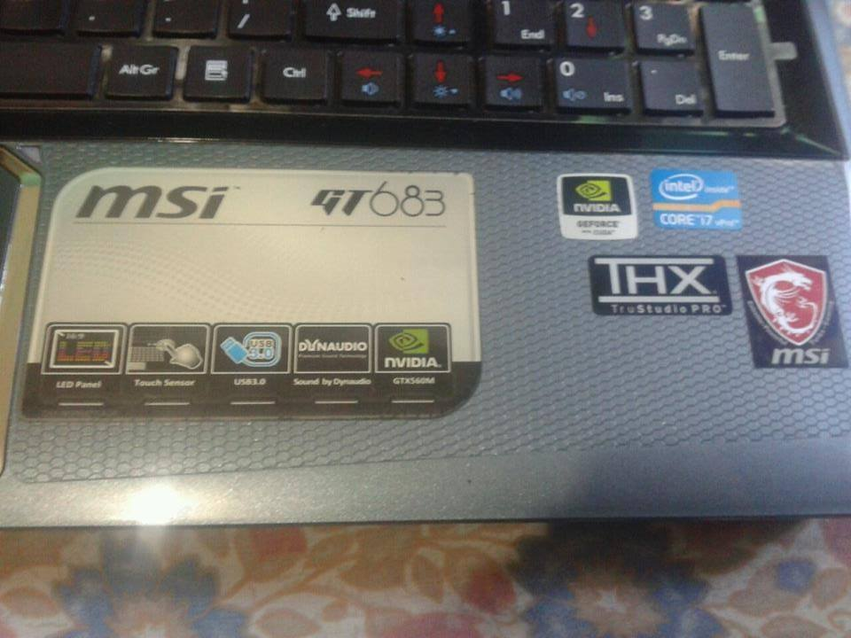 MSI Gaming laptop GT683x , Nvidia 560m , 1080p image 4