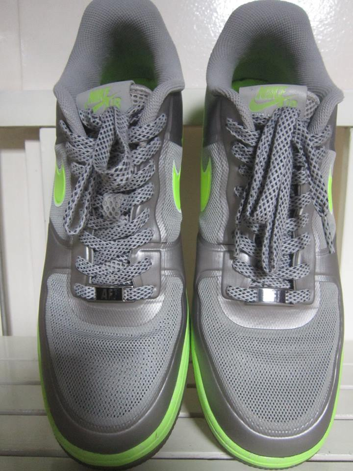 Nike Lunar Force 1 Fuse Mens Shoes in Silver and Green photo