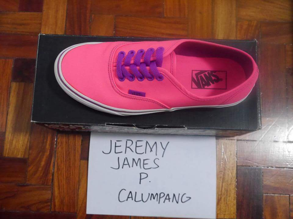 VANS AUTHENTIC (NEON) PINK/PURPLE photo