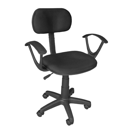 OC-101BLK+ARM Staff Office Chair Furniture with Armrest (Black) photo