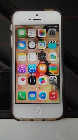 Iphone 5 16gb globelocked white photo