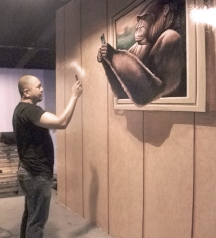 3D Mural Painting photo